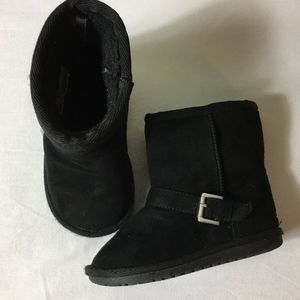 Children's Place Girl's Black Boots